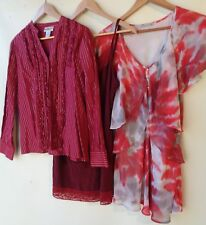 Bulk lot 3 items women's clothing tops mixed all size 16 red