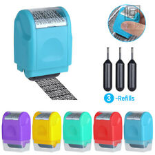 Identity Theft Protection Roller Stamp Guard Your ID Confidential Privacy Data