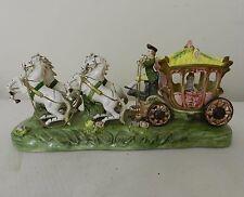 Vintage Capodimonte Cinderella Coach and Horses 36cm