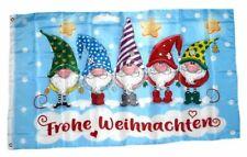 Flagge / Fahne Frohe Weihnachten Wichtel Hissflagge 90 x 150 cm