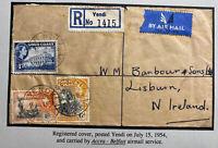 1954 Yendi Gold Coast Airmail Cover To Lisburn Northern Ireland