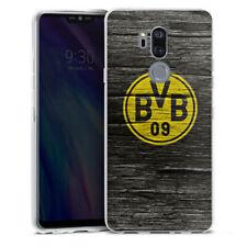 LG G7 ThinQ Silikon Hülle Case - BVB Holzoptik