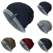 Winter Beanies Slouchy Chunky Hat for Men Women Warm Soft Skull Knitting Caps