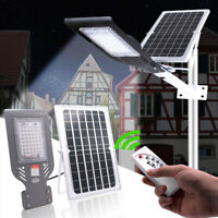 60W 48LED Solar Light Outdoor Wall Street Light Outdoor Garden Lamp + Remote