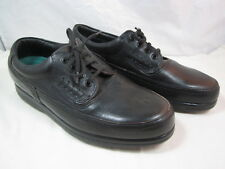 """Mens Hush Puppies Black Leather Lace Up Shoes Size 8 M  1"""" Heels"""