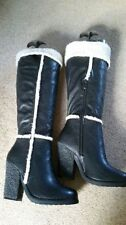 High Heel (3-4.5 in.) Unbranded Fur Boots for Women