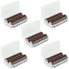 10x LG INR18650 HG2 3000mAh 3,7V 20A + DC Akku-Schutzbox 18650