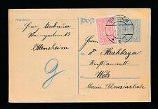 300 Kronen Ganzsachen-Karte 1924 aus Ottensheim + 200 Kronen ZF   (A30)
