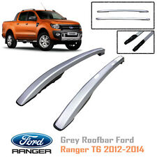 Grey Roof Bar Rack For Ford Ranger T6 MK XLT PX UTE WILDTRAK 2011 12 13 14
