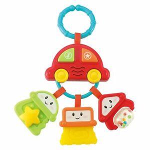 Baby Rassel Beißring Schlüssel Spielzeug Kinderwagen & Kinderbett Geräusch Musik