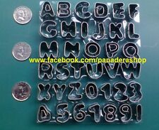 37Pcs Stainless Alphabet Letter Number Cookie Fondant Clay Cutter Plunger Mold