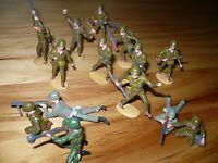 Merten West Berlin Spielzeug Soldaten GI Tarnanzug MG 14 Figuren guter Zustand