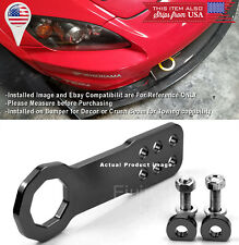 Aluminum Anodized Billet Black Front Bumper Tow Hook Towing For Nissan Infiniti