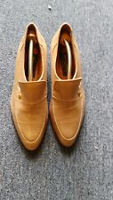 Pierre Cardin 70's Vintage Tan Leather shoes Handmade in Spain size 7 1/2 US
