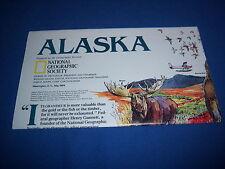 1994 vintage ALASKA poster/map - NATIONAL GEOGRAPHIC supplement - illustrations