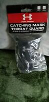 Under Armour UATG Black Throat Guard For Catcher Mask/Helmet Catching Youth New!