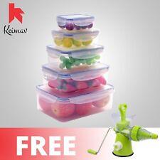 Keimavlock 10-Pc Airtight Food Storage with Manual Juicer (Green)