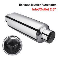 "2.5"" Exhaust Hotdog Resonator Muffler Silencer Pipe14"" Long High Flow Stainless"
