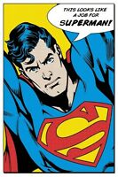 SUPERMAN ART POSTER ~ THIS LOOKS LIKE A JOB FOR 24x36 DC Comic Book