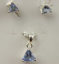 Small Earrings and Pendant Set Sterling Silver