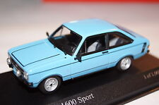 Ford ESCORT 1600 sport 1975 bleu 1:43 MINICHAMPS NEUF + OVP