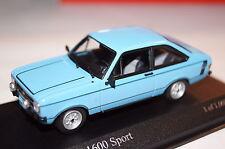 Ford Escort 1600 Sport 1975 blau 1:43 Minichamps neu + OVP