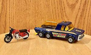 1974 MATCHBOX SUPER KINGS K-6/11 PICK-UP TRUCK MADE IN ENGLAND LESNEY TEAM HONDA