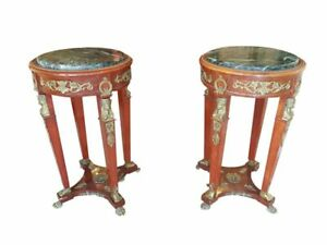 Two Side Tables in Empire Style