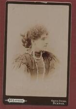 Buxton. Grove Studio. D C Latham. Lady   cabinet photograph L718