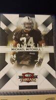 2009 Donruss Threads Football Card #173 Michael Mitchell Rookie /999 Raiders