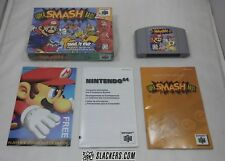 SUPER SMASH BROS. (Nintendo 64 '99) COMPLETE IN BOX Mario N64 ZELDA Pokemon KONG