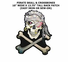 large JUMBO SKULL AND CROSS BONES JACKET BACK PATCH JBP31 pirate skulls new