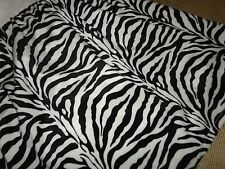PACIFIC COAST BLACK & WHITE FAUX FUR ZEBRA  RUFFLED HEAVY TWIN BEDSKIRT 16""