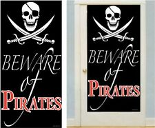 "❤ Beistle 50008 Beware of Pirates Door Cover 30"" by 5-feet USA IMPORT"