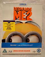 NEW Despicable Me 2 Blu-Ray Steelbook UK Zavvi Exclusive Region Free