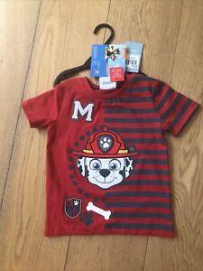 Paw Patrol Tshirt Red Marshall 1.5-2 Years 18-24 Months BNWT