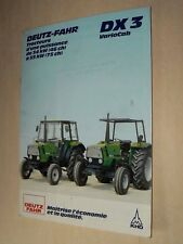 Prospectus Tracteur DEUTZ DX3 Vario brochure tractor Traktor Trattore Prospekt
