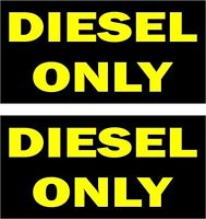 Set of 2 sticker decal vinyl car small diesel only rental vehicle