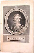 Portrait de Crebillon par Moitte d'après de la Tour