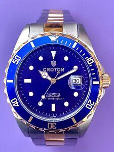 CROTON Stainless Steel Men's Watch CA301103TTBL