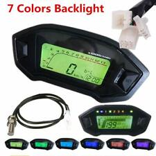 DC 12V 7 Backlight LCD Motorcycle Speedometer Odometer for 1,2,4 Cylinders meter