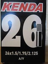 KENDA BICICLETTA CAMERA D'aria Valvola Schrader 26 x 1.5/1.75/2.125 Bici Ciclismo