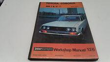 1962 - 1970 TOYOTA CORONA Mk 1 & 2    Workshop Manual