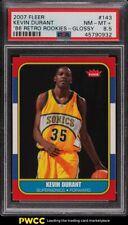 2007 Fleer '86 Retro Rookies Glossy Kevin Durant ROOKIE RC #143 PSA 8.5 NM-MT+