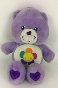 Care Bears Harmony Bear Talking Plush Stuffed Animal Toy Purple Flower 2003 TCFC