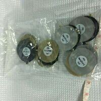 Song Burst Game Parts - Mini Plastic Records - 24 Piece Set Sealed Bag FS