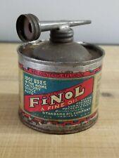Antique Standard Oil Co. Finol A Fine Oil Can, 4 Fl.oz, Empty
