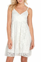 Ladies Off-White Ivory Wrap Lace Strappy Dress in UK Size 6 - 20