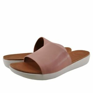Women's Shoes FitFlop Sola Leather Slip On Slides M27-535 DUSKY PINK *New*