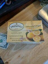 Twinings of London, Herbal tea, Lemon and Ginger flavor, 20 Tea bags